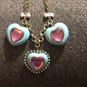 Betsey Johnson Large Heart Necklace